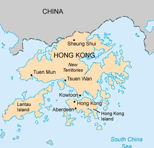 خريطة هونغ كونغ جولة