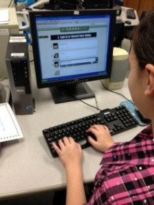 A student enjoys GoAnimate for Schools in Mrs. MacConnell's class.