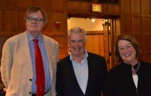 (l to r) Garrison Keillor, Gawthrop Greenwood partner Kevin Holleran and his wife Priscilla