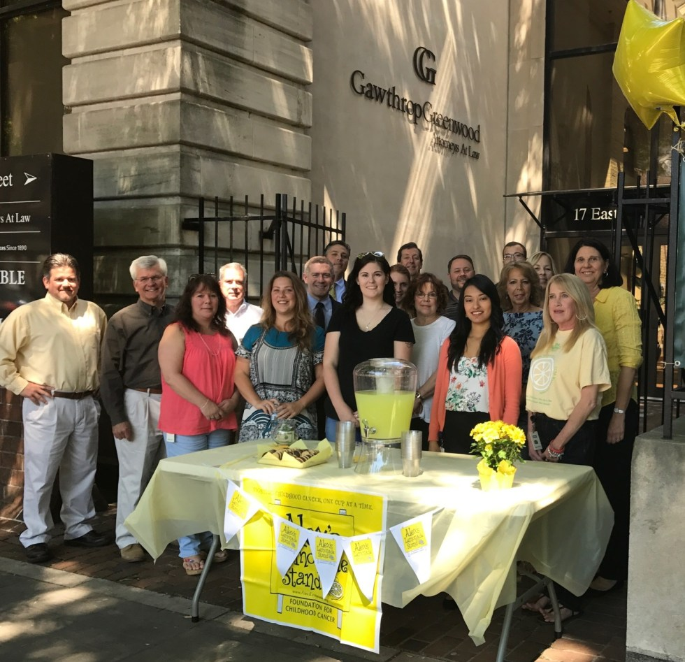 Gawthrop Greenwood Teams Up With Alex's Lemonade Stand