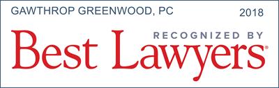 Best Lawyers 2018 Gawthrop Greenwood