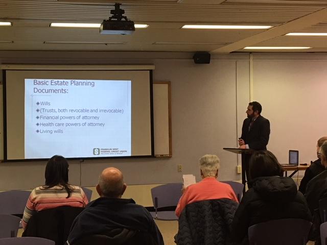 Gawthrop Presents: Stephen J. Olsen Speaks On Basics Of Estate Planning At Franklin Mint Federal Credit Union