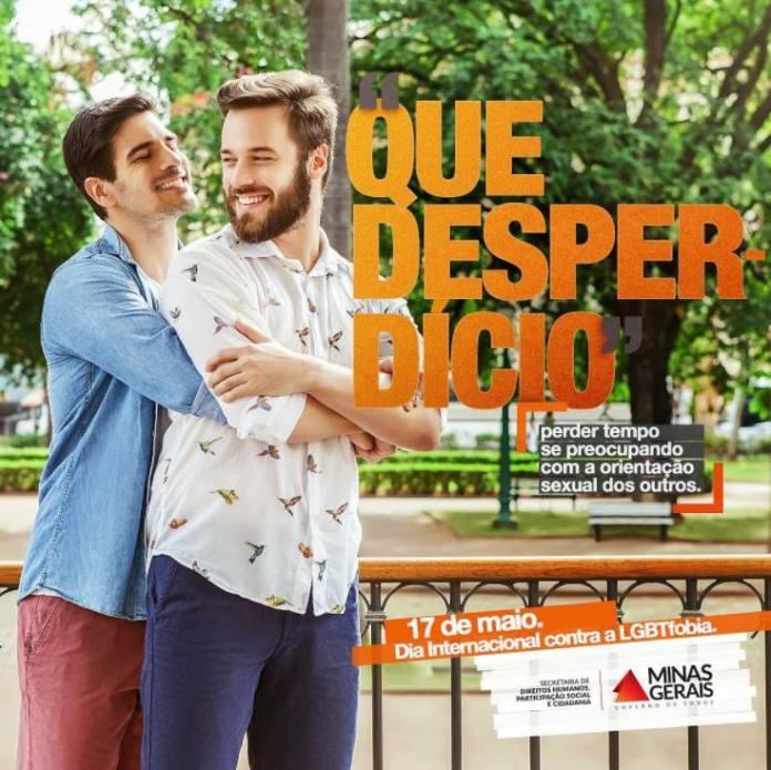 Campanha publicitária do governo estadual de Minas foi lançada para conscientizar sobre a LGBTfobia ecombater preconceito
