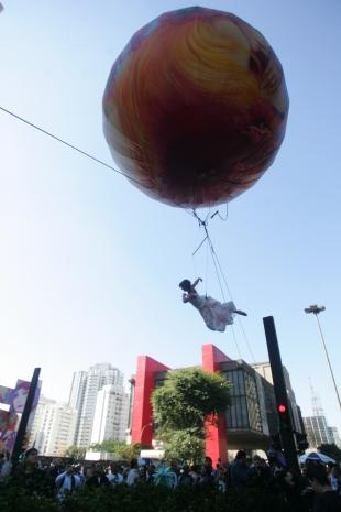 Performance na Avenida Paulista, na edição de 2010