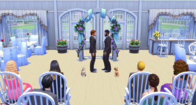Trailer da expansão do 'The Sims 4' tem casamento gay com pets sendo dama de honra e pajem