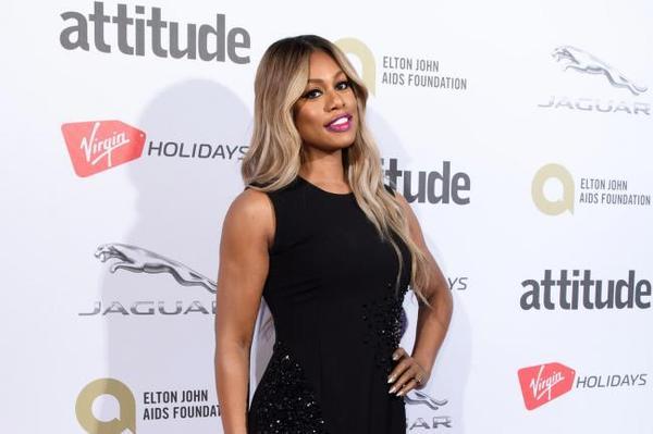 Laverne Cox na premiação da revista Attitude