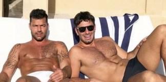 Ricky Martin e o marido (Foto: Reprodução)
