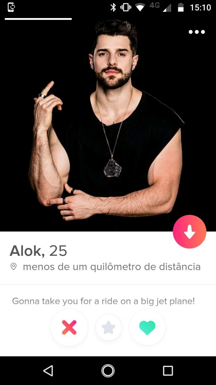 DJ Alok no Tinder