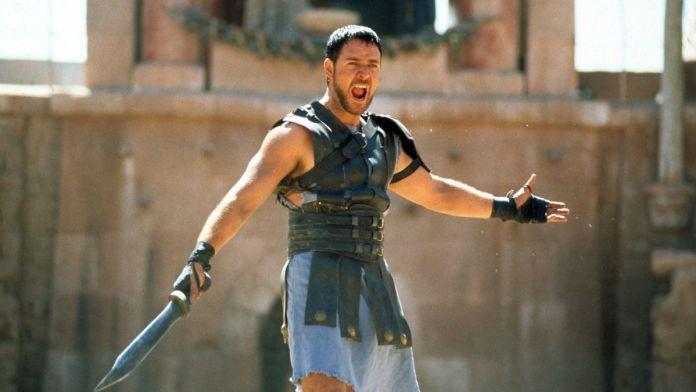"Russell Crowe em ""Gladiador"""