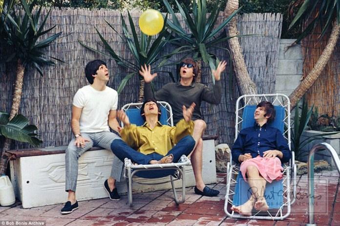 The Beatles em tour de 1964. Foto: reprodução