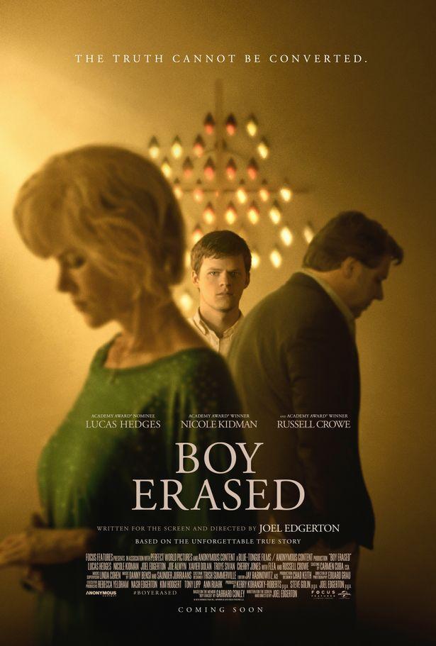 O novo pôster de Boy Erased. (Imagem: Universal Studios)