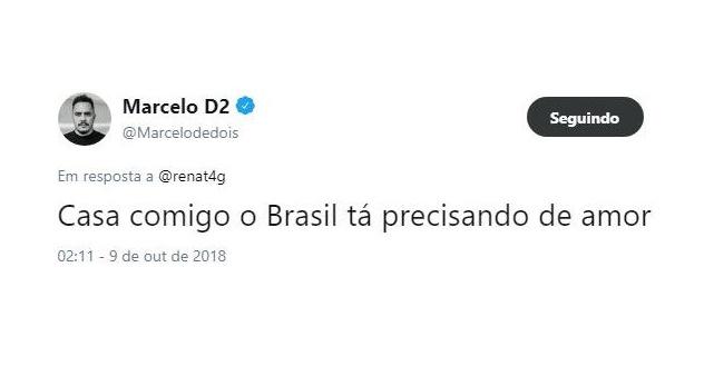 Marcelo D2 de volta ao Twitter é a melhor coisa que poderia ter acontecido