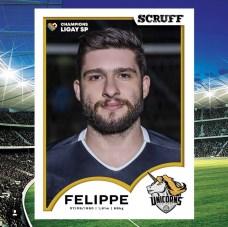 scruff unicorns ligay jogadores futebol