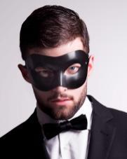 Colombina Leather Black Masquerade Mask. Foto: Vivo Masks