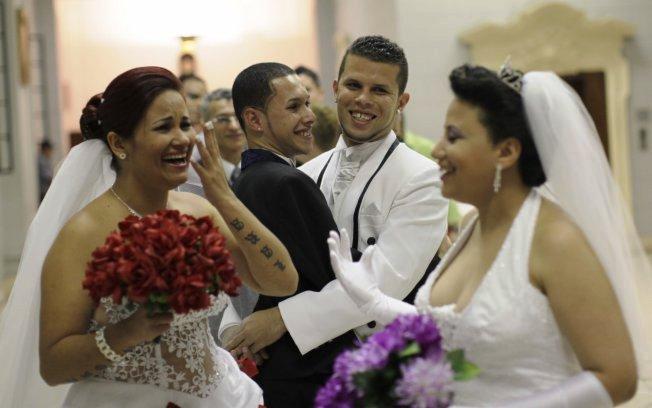 Primeira edição do Casamento Igualitário promovido pela prefeitura de SP. Foto: Agência Estado