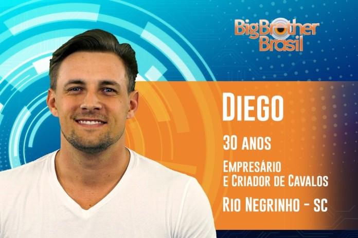 Diego es participante de BBB19 - Foto: TV Globo