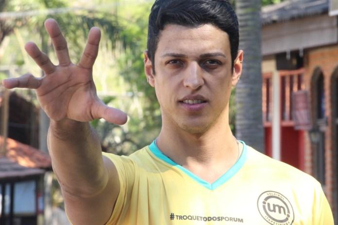 Michael, central do Vôlei Itapetininga — Foto: Carlos Dias homofobia esportivo