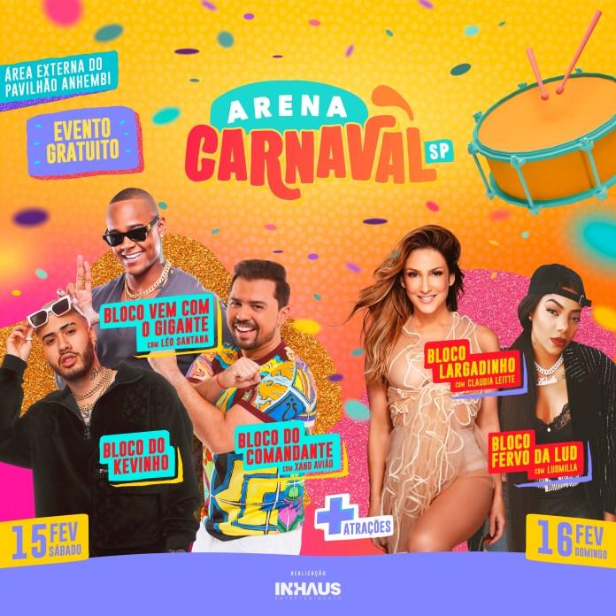 Arena Carnaval SP tem Bloco Largadinho e Fervo da Lud na programação