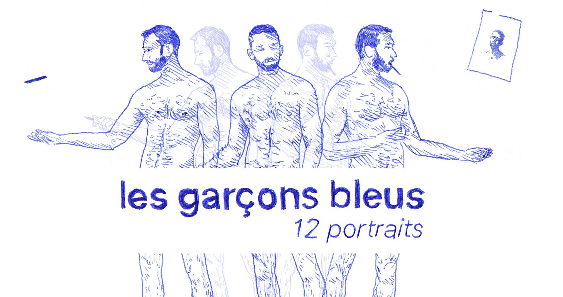 Les Garçons Bleus: o nu masculino ilustrado com caneta esferográfica