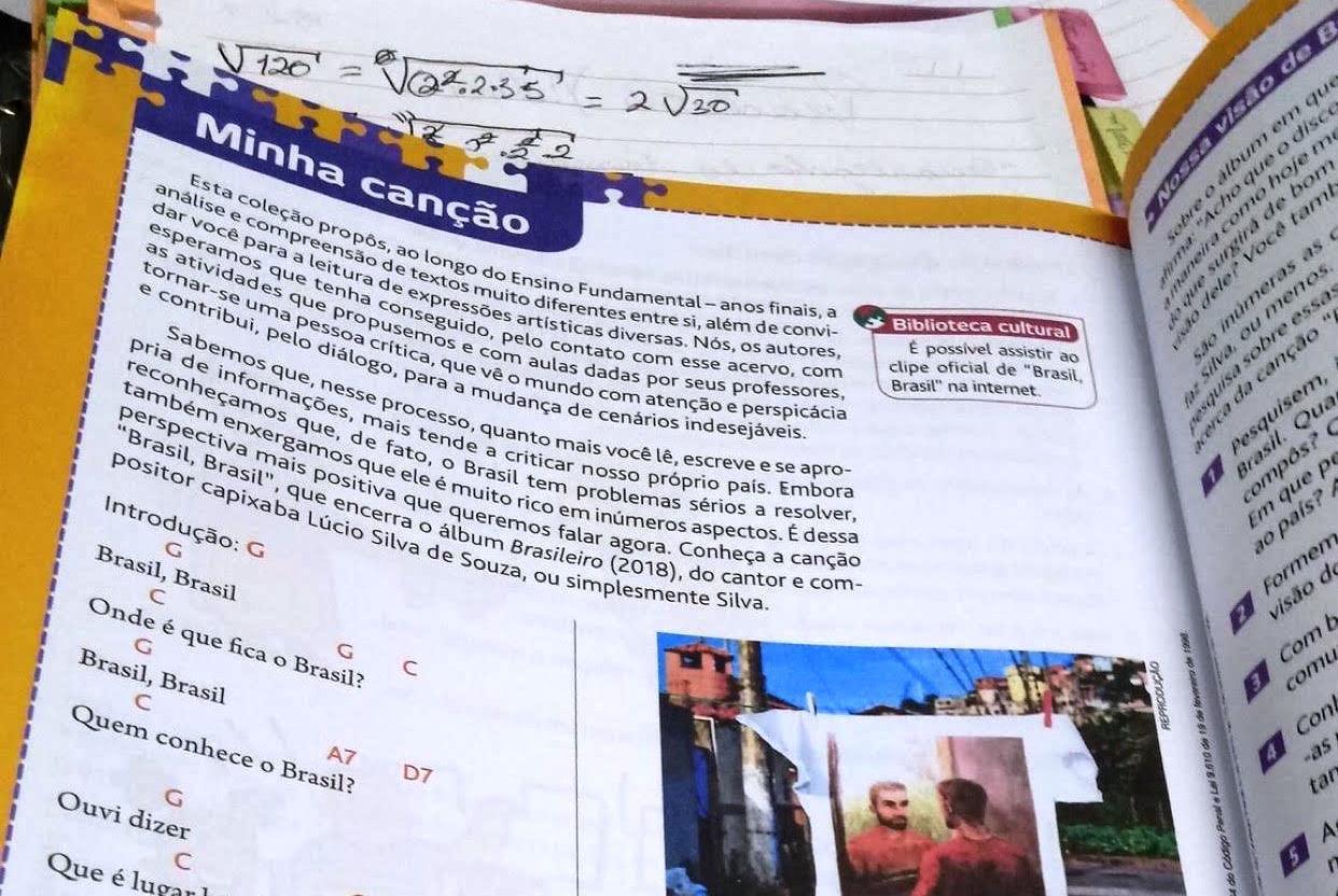 Música de Silva integra livro didático de português do ensino público