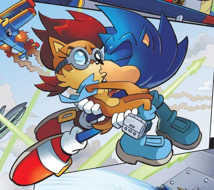 Nos quadrinhos e desenhos animados, o Sonic namora a Sally Acorn (Foto: Reprodução)