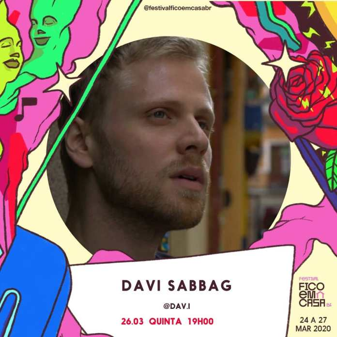 """Davi Sabbag faz live para o """"Festival Fico em Casa"""" nesta quinta-feira, 26"""