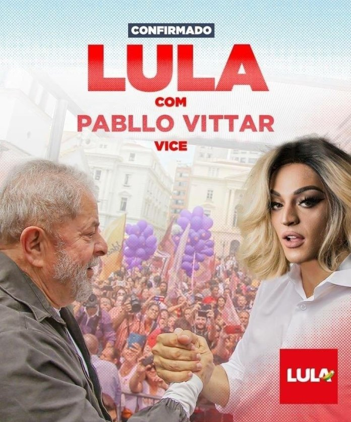 It is false that Pabllo Vittar will be vice president of Lula in 2022