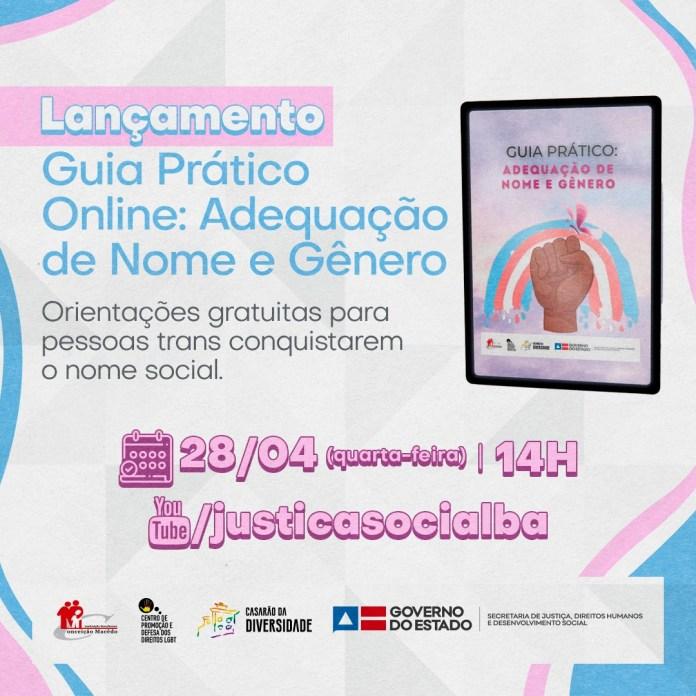 Secretaria de Justiça da Bahia lança guia prático para registro oficial do nome social