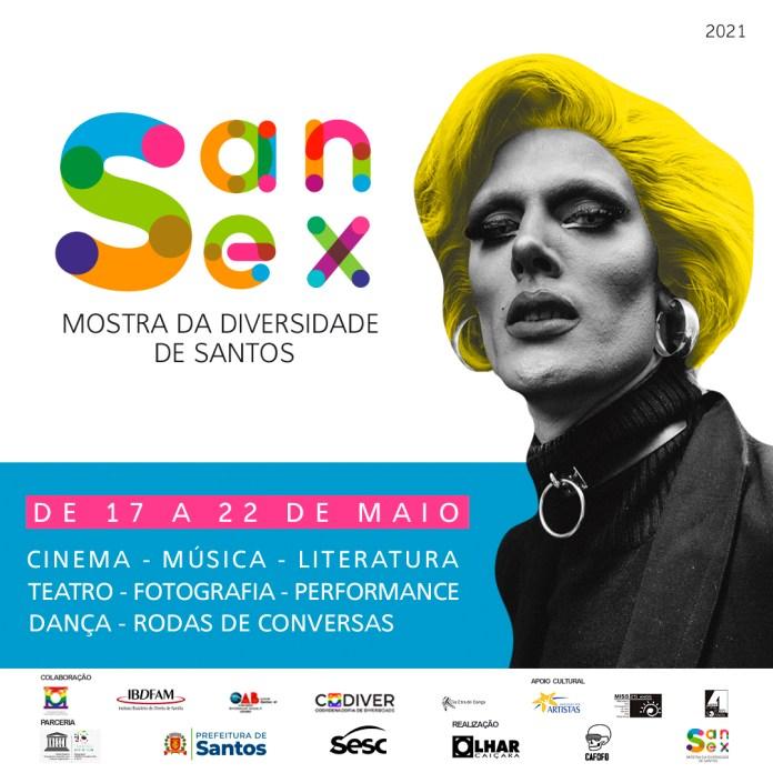 SANSEX - Mostra da Diversidade de Santos realiza edição on-line no mês de maio