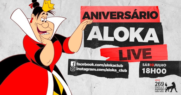 Tradicional balada Aloka fará live para comemorar aniversário