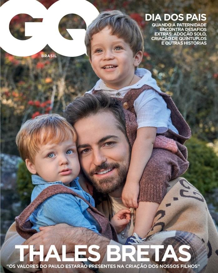 GQ Brasil dá protagonismo à paternidade de Thales Bretas