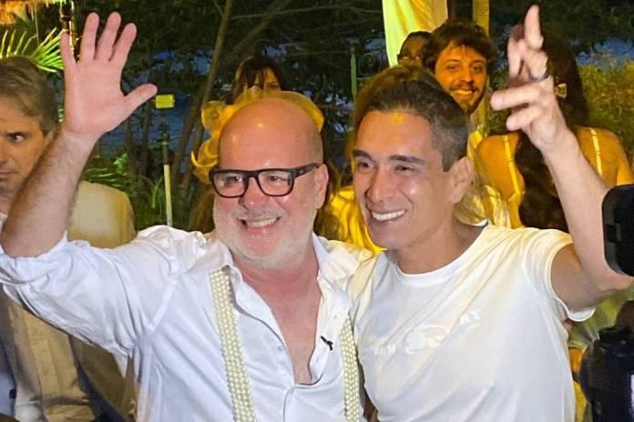 O arquiteto e decorador Eder Meneghini se casa com o chef de cozinha Hugo Oliveira - Paulo de Deus