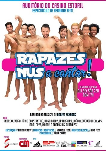 Rapazes Nus a Cantar, Naked Boys Singing portugal,