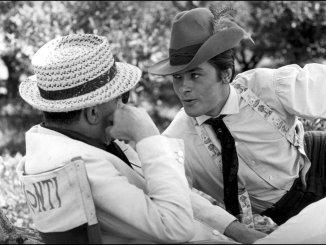Luchino Visconti e Alain Delon em1963