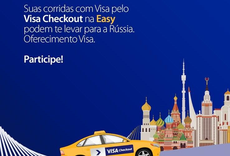 Passageiros vão concorrer a dois pacotes com acompanhante para a Copa do Mundo com tudo pago. Oferecimento Visa