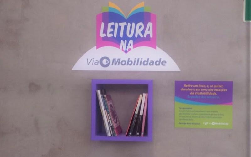 ViaMobilidade lança projeto de doação e troca de livros para incentivo à leitura na Linha 5-Lilás