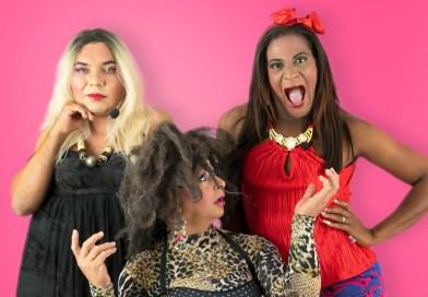 três das divas da comédia dos palcos de Recife