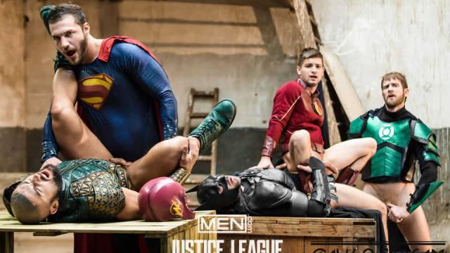[SuperGayHero.com / Men.com] Justice League : A Gay XXX Parody Part 4 (Brandon Cody, Colby Keller, Francois Sagat, Johnny Rapid, Ryan Bones)