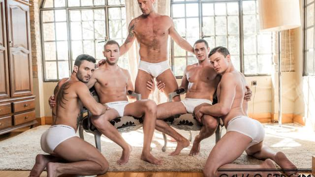 [LucasEntertainment.com] Ruslan Angelo's Five-Man Bareback Orgy / LVP274-04 Raw Double Penetrations 07: Jam Packed, scene 4 (Andy Star, Bogdan Gromov, Javi Velaro, Logan Rogue, Ruslan Angelo)