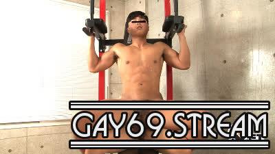 【HD】【GT-1173】 色黒マッチョな19歳の水着deアスレチックな淫乱エクササイズ生SEX♂×♂