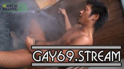 【HD】【MR-ON450】ちょい厳つい色黒男子が温泉ホカホカエロオナニー♪