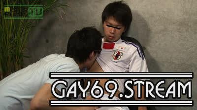 【HD】【MR-TK196】サカユニ姿のGENKIがフェラとテコキでいかされる♂