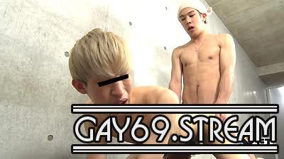 【HD】【GT-1560】 パイパンの金髪青年のアナルをKENSYOの巨根がズッポリ♂