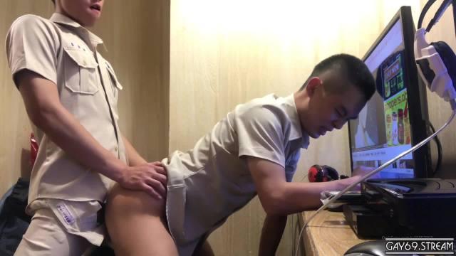 【HD】【Amateur Contribution】 Zhang Xun Hao   by Senior Li Yan Xiang in the Internet Cafe