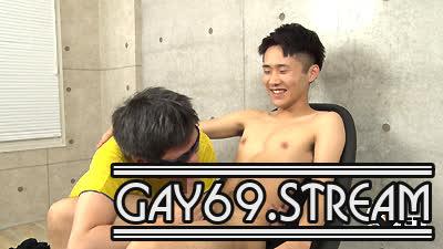 【HD】【GT-1586】 稀にみるデカさ!スリムかわいい巨根空手少年を初男攻め♂