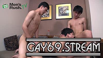 【HD】【MR-KR1700】 KAKERUとNATSUKIがカワイイ系美腹筋18歳を生廻し!ギンギンの激3P♂