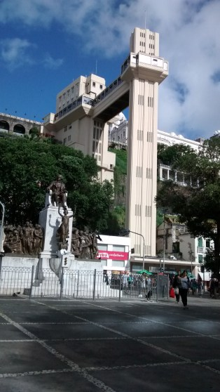 Salvador, Elevador Lacerda, you had to pay about 15 cents to use it, which in euro would be a bit less then 5 cents