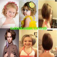 Kumpulan Contoh Model Sanggul Rambut Pendek Untuk Anak Terbaru