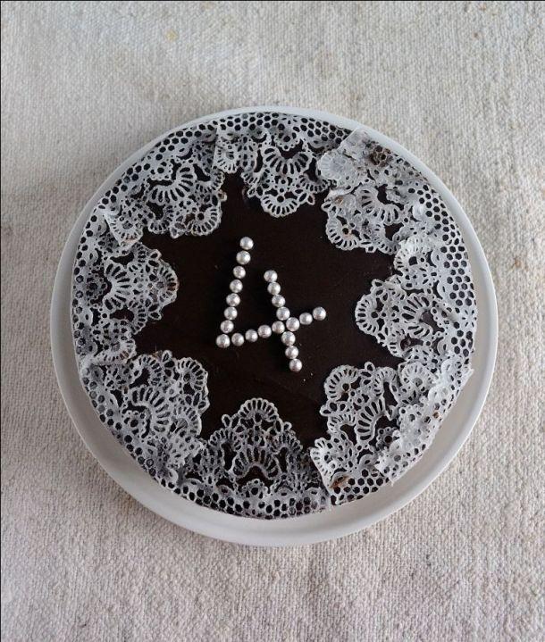 Gulkand Cake with Edible Sugar lace Gelatin free