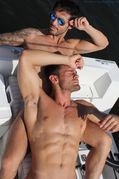 Diego Arnary and Kirill Dowidoff together in the sun
